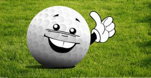 piłeczka golfowa uśmiechnięta zaprasza do gry